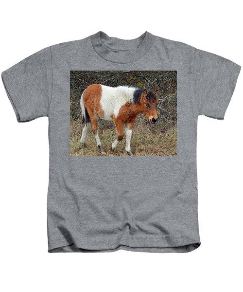 Autumn Glory N2bhs-ap On Assateague Island Kids T-Shirt