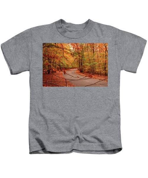 Autumn In Holmdel Park Kids T-Shirt