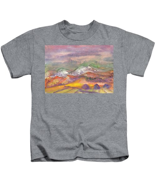 Autumn Landscape In Cloudy Weather Kids T-Shirt
