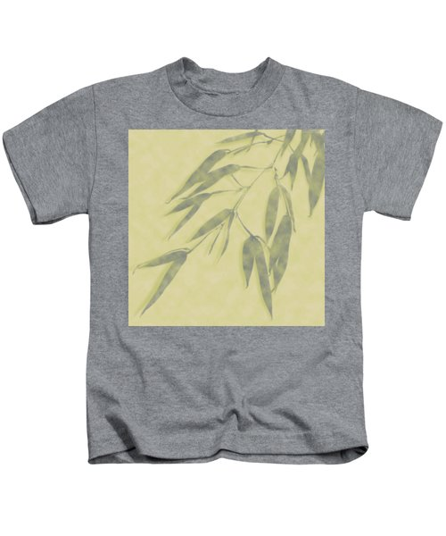 Bamboo Leaves 0580b Kids T-Shirt