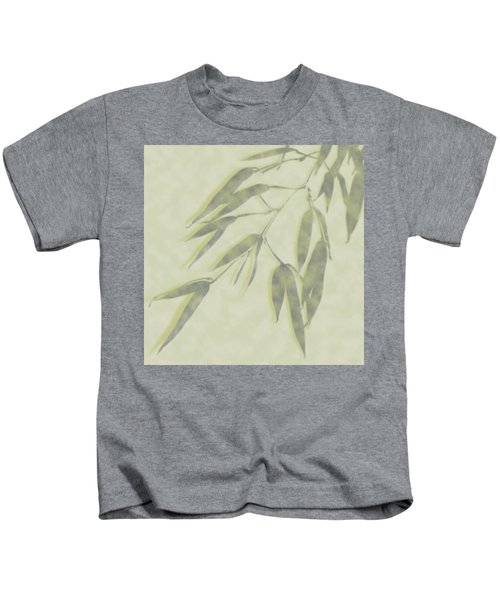 Bamboo Leaves 0580c Kids T-Shirt