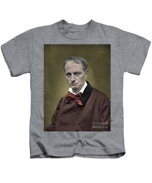Baudelaire Portrait Colorized Photo Kids T-Shirt