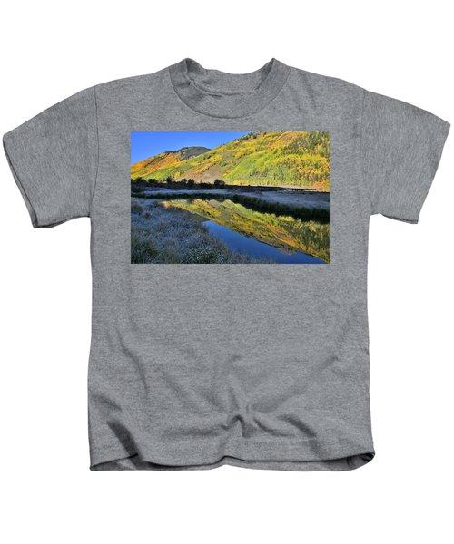 Beautiful Mirror Image On Crystal Lake Kids T-Shirt