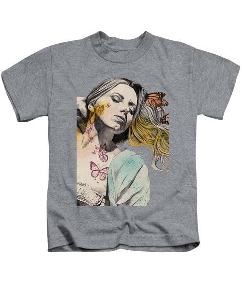 Beautiful Ruin - Sexy Butterfly Girl In Lingerie Kids T-Shirt