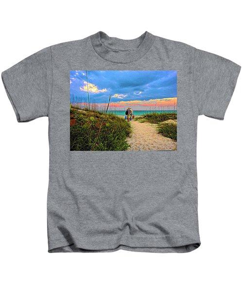 Beginning Of A Fishing Story Kids T-Shirt