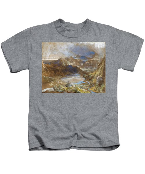 Between Capel Curig And Beddegelert, North Wales - Digital Remastered Edition Kids T-Shirt