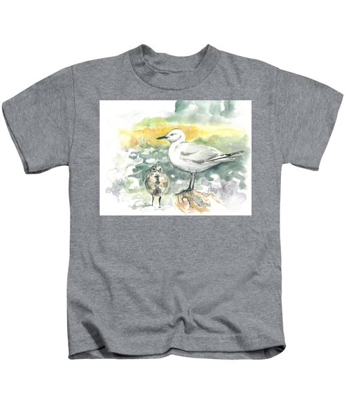 Black-billed Gull Family Kids T-Shirt