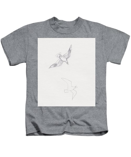 Black-billed Gulls Kids T-Shirt