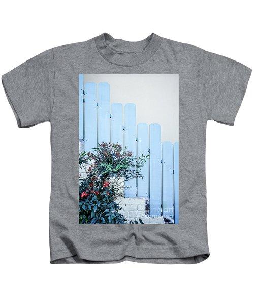Blue Fence Adobe Home Kids T-Shirt