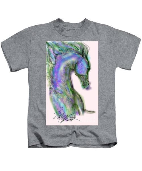 Blue Horse Painting Kids T-Shirt