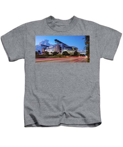 Blue Hour Photograph Of Nrg Stadium - Home Of The Houston Texans - Houston Texas Kids T-Shirt