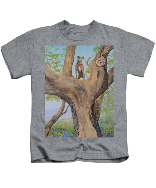 Blue Lacey In A Tree Kids T-Shirt