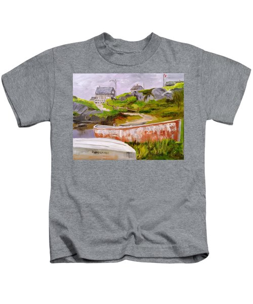 Boats At Peggy's Cove Kids T-Shirt