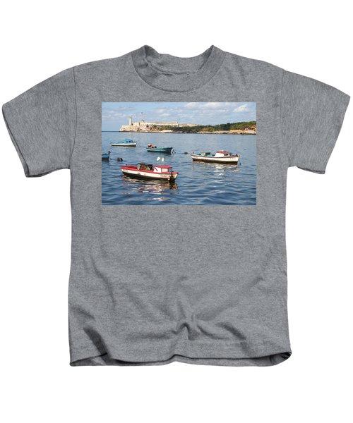 Boats In The Harbor Havana Cuba 112605 Kids T-Shirt