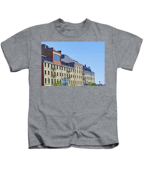 Boston Custom Block By Roberta Byram Kids T-Shirt