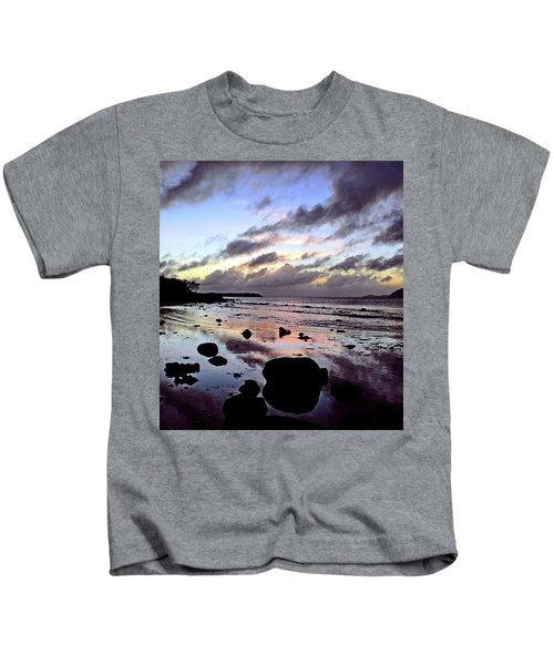 Bright Mirror Of Sunset Light Kids T-Shirt
