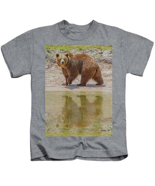Brown Bear Reflection Kids T-Shirt