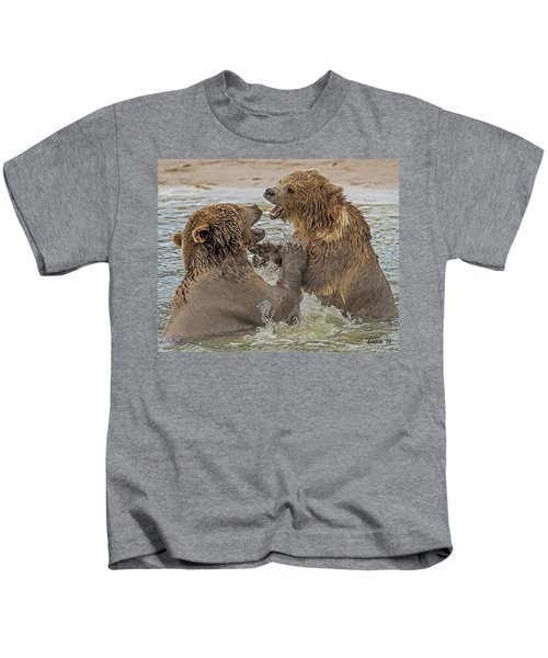 Brown Bears Fighting Kids T-Shirt