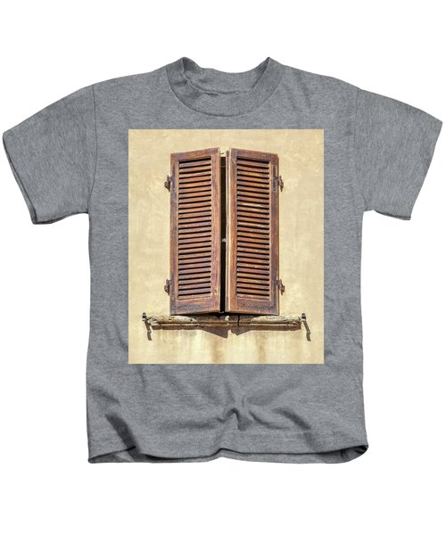 Brown Window Of Florence Kids T-Shirt