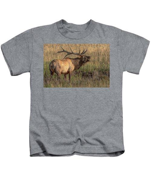 Bugling Bull Elk 7777 Kids T-Shirt