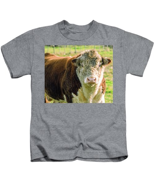 Bull In The Country Side Of Tasmania. Kids T-Shirt