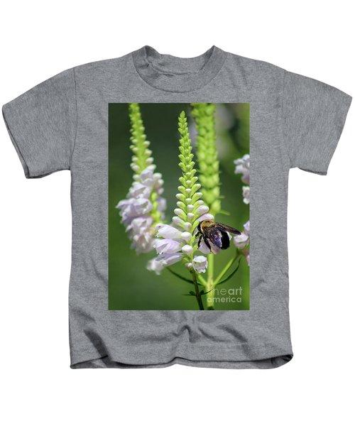 Bumblebee On Obedient Flower Kids T-Shirt