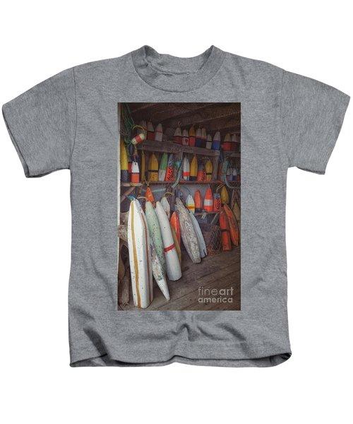 Buoys In A Sea Shack Kids T-Shirt