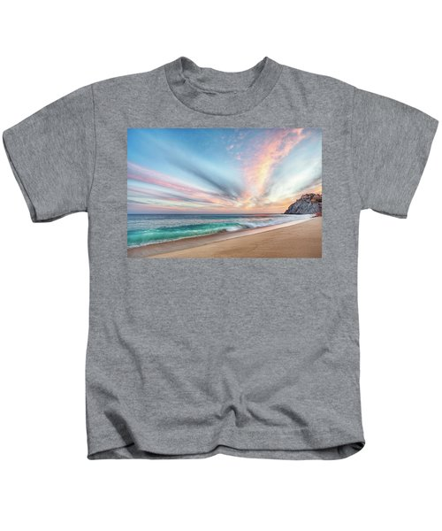 Cabo San Lucas Beach Wave Sunset Kids T-Shirt