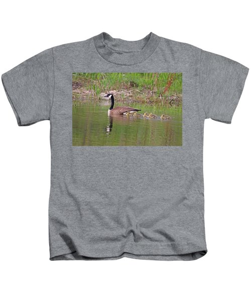 Canada Goose And Goslings Kids T-Shirt