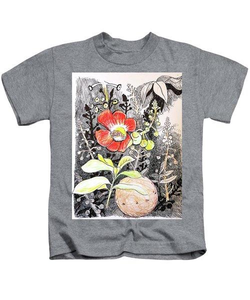 Cannonball Flower Botanical Kids T-Shirt