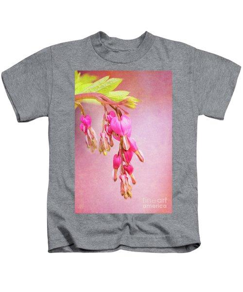 Cascading Bleeding Hearts Kids T-Shirt