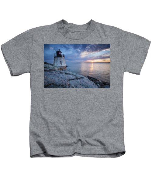 Castle Hill Light Sunset Kids T-Shirt
