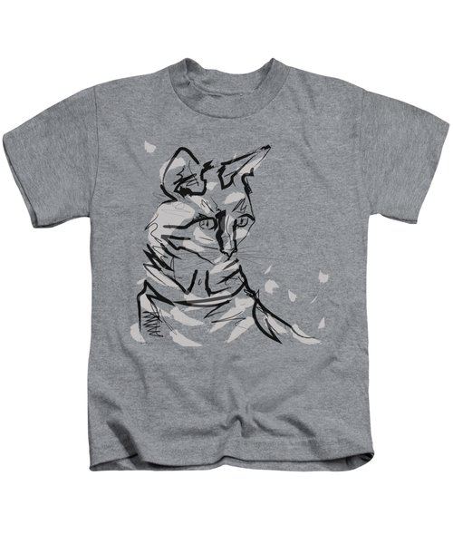 Cat Lisa In Lines Kids T-Shirt
