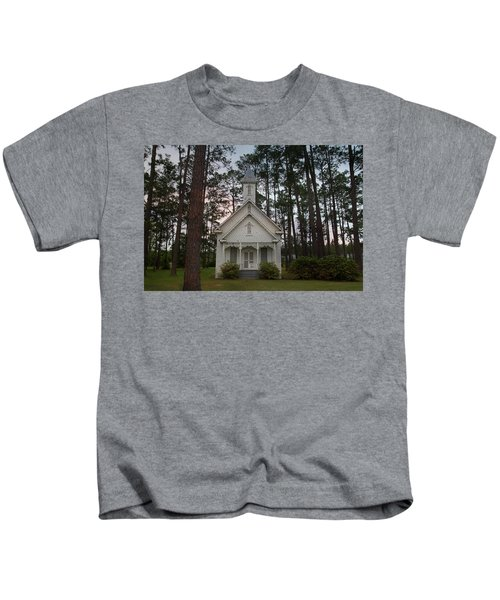 Chapel In The Woods Kids T-Shirt