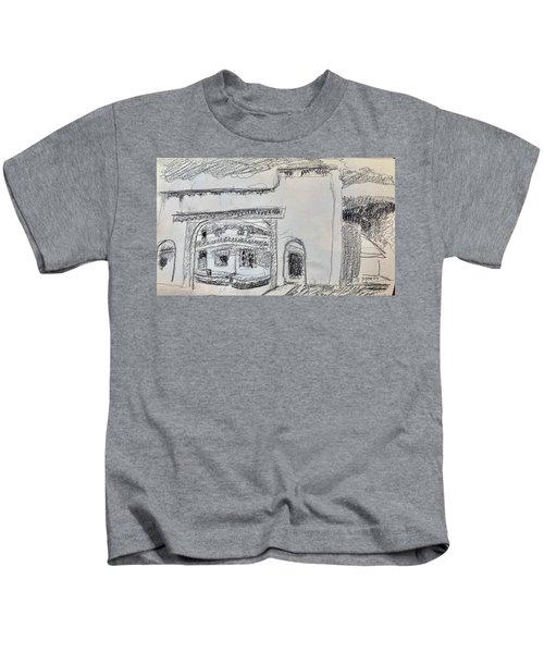 Charcoal Pencil Arch.jpg Kids T-Shirt