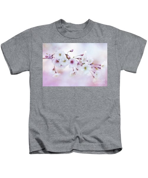 Cherry Blossoms In Pastel Pink Kids T-Shirt