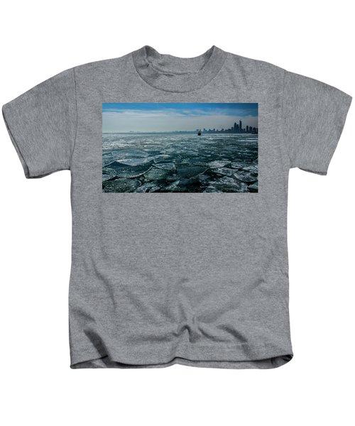 Chicago In Winter Kids T-Shirt