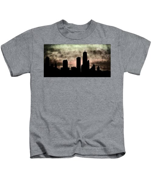 Chicago Skyline And Paint Kids T-Shirt