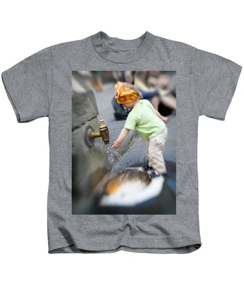 Child And Italian Water Spigot Kids T-Shirt
