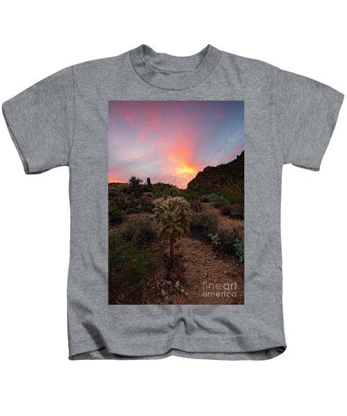 Cholla Sunset Kids T-Shirt