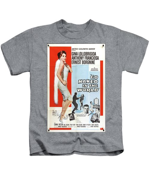 Classic Movie Poster - Go Naked In The World Kids T-Shirt