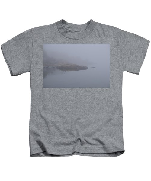 Cliffs In Fog Kids T-Shirt