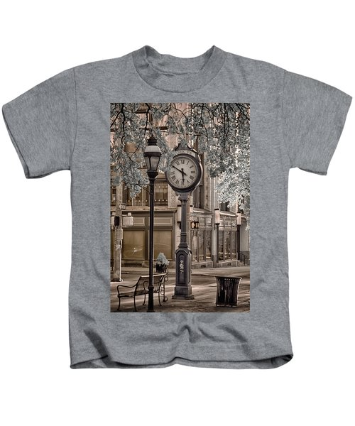Clock On Street Kids T-Shirt