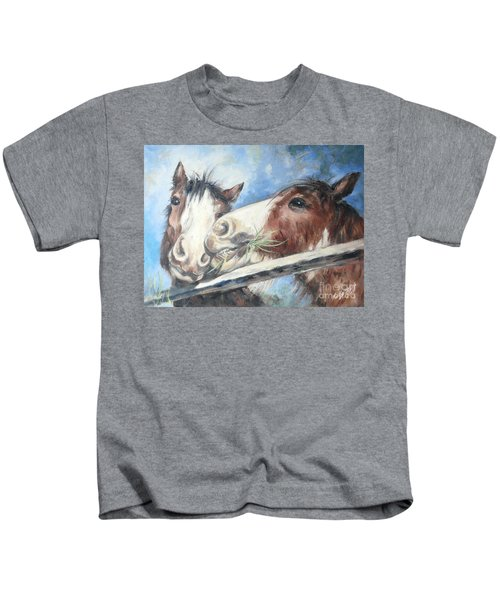 Clydesdale Pair Kids T-Shirt
