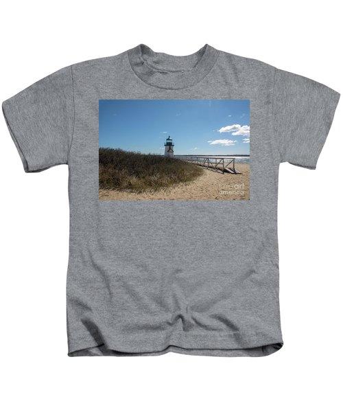 Coastal Brant Light House Kids T-Shirt