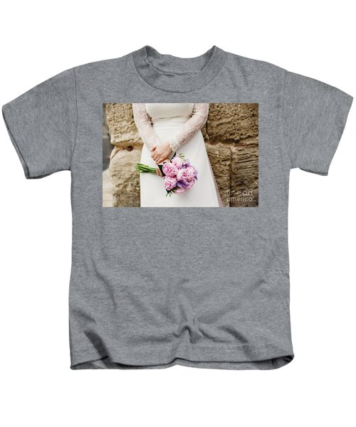 Colorful Bridal Bouquets With Flowers Kids T-Shirt