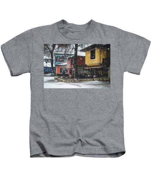 Colorful Koprivshtica Houses In Winter Kids T-Shirt