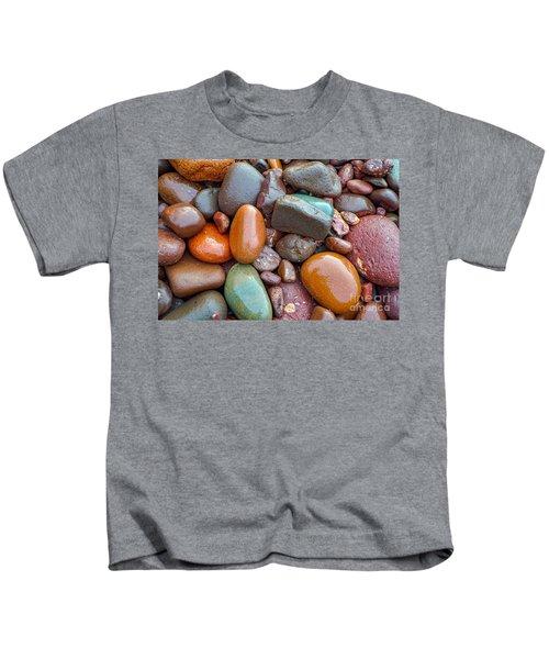 Colorful Wet Stones Kids T-Shirt