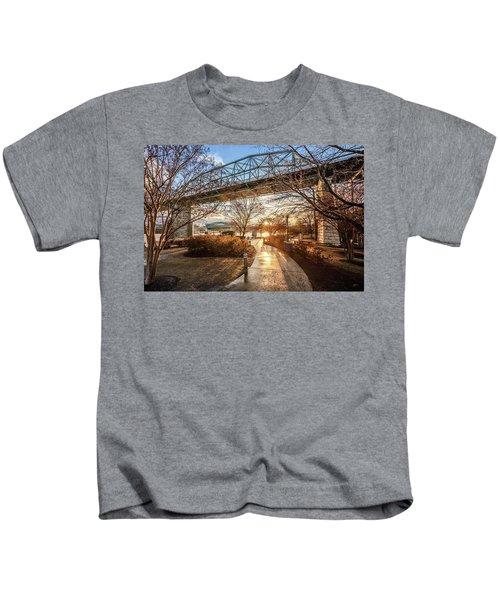 Coolidge Park Path At Sunset Kids T-Shirt