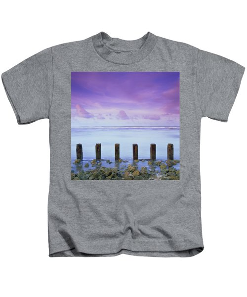 Cotton Candy Skies Over The Sea Kids T-Shirt